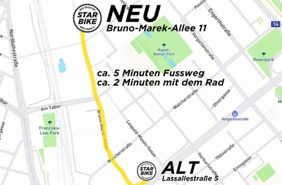 NEUE ADRESSE:Starbike Bruno-Marek-Allee 11, 1020 Wien