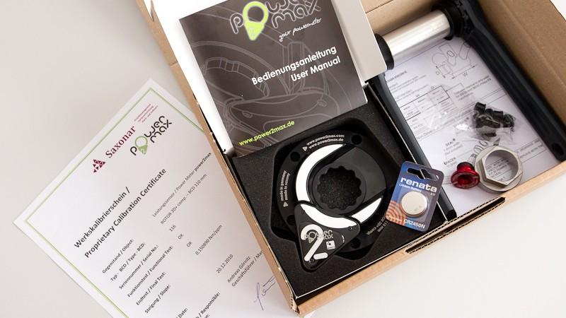 """power2max Leistungsmesser im TestDas bewährte """"SRM Prinzip"""" zur Leistungsmessung in der Kurbel zum Kampfpreis. Wir haben den power2max Sensor über 1.600 Kilometer auf Herz und Nieren geprüft."""