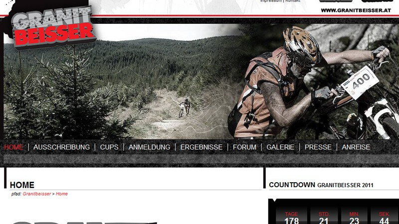 Neuer Web-Auftritt: Granitbeisser MTB MarathonAlle Mountainbiker und Fans können sich jetzt ganz leicht einen Überblick über die Marathon-Veranstaltung mit dem großen Rahmenprogramm verschaffen.